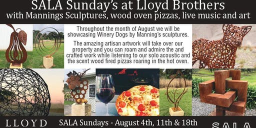 SALA Sunday's at Lloyd Brothers - Art, Wine and Wood Oven Pizza