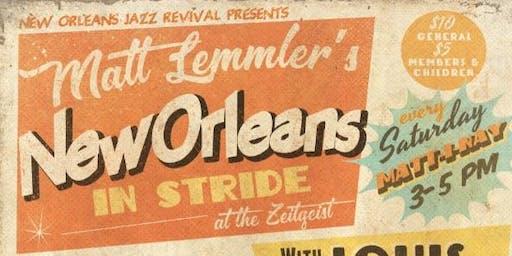 """Matt Lemmler's """"New Orleans in Stride"""" w Faith Wilson, Dan Caro & Calvin"""