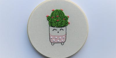 THE DESIGN SERIES: Illustration Embroidery - Happy Cacti Edition with Hooray Hoop