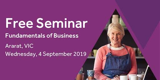 Free Seminar: Business Basics 101 – Ararat, 4th September