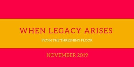 When Legacy Arises from the Threshing Floor Book Launch and Signing  tickets