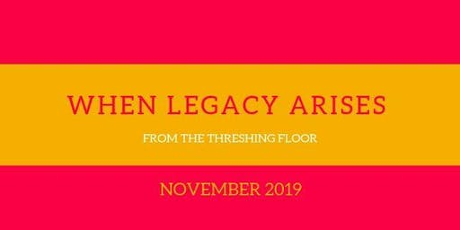 When Legacy Arises from the Threshing Floor Book Launch and Signing
