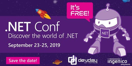 .NET Core 3.0 launches at .NET Conf 2019! (watch party) billets