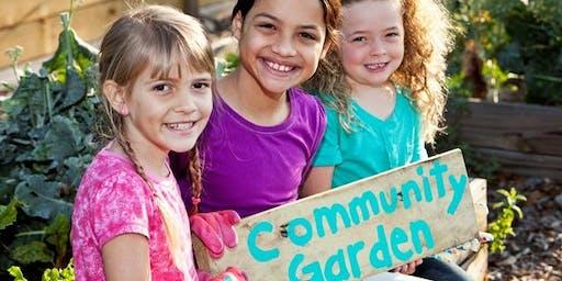 Kids in the garden - Blacktown Showground - October 2019