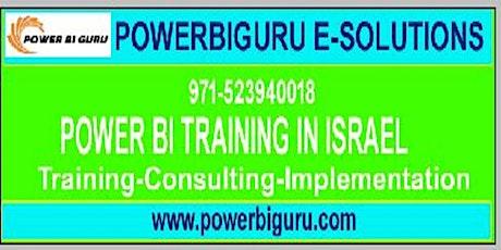 Microsoft Power BI training in Israel,UAE tickets