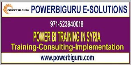 powerbi training  in syria tickets