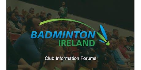 Badminton Ireland Club Information Forum - Munster tickets