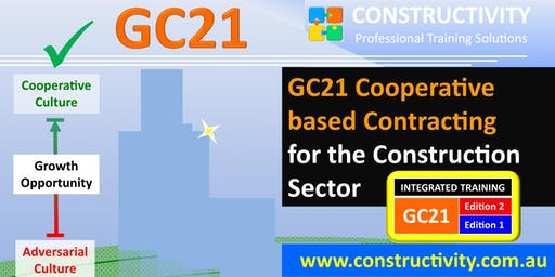 GC21 Editions 2+1 INTEGRATED: COOPERATIVE BASED CONTRACTING for the Construction Sector - 28 Oct 2019