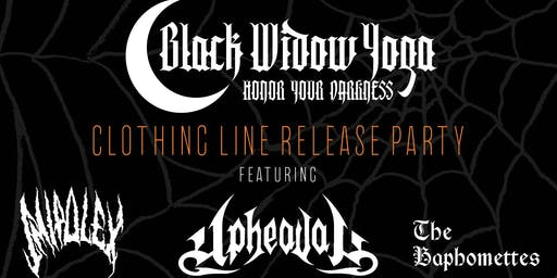 BLACK WIDOW YOGA CLOTHING LINE RELEASE PARTY! w. metal+burlesque
