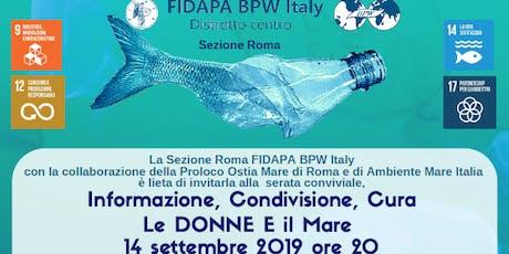 Cena Conviviale -Donne e Mare -  Sez. Roma FIDAPA BPW Italy biglietti