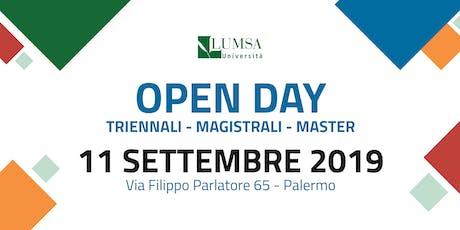 Open Day di Orientamento - Corsi di Laurea + Master - Università LUMSA  biglietti