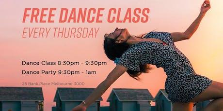 FREE DANCE CLASS - Every Thursday tickets