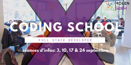 [Séance d'information] : MolenGeek Coding School - Dev web & mobile tickets