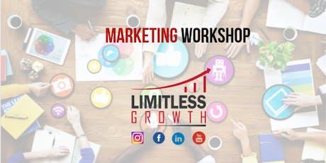 Marketing Workshop-Damit auch DU grenzenlos wachsen kannst Tickets