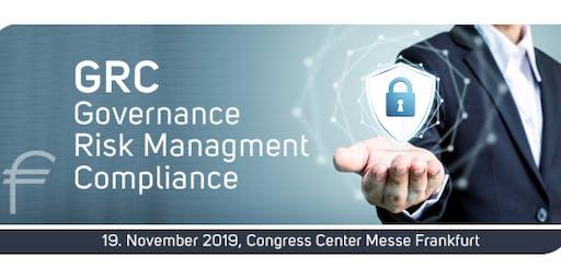 EURO FINANCE WEEK - Governance, Risk Management and Compliance - 19 November 2019