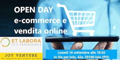 OPEN DAY : E-COMMERCE E VENDITA ONLINE biglietti