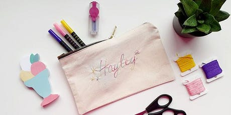 DRINK AND DO – HAND EMBROIDERY PERSONALISED POUCH tickets