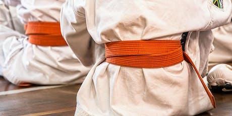 Lezione di prova gratuita corso : Karate (4-5 anni) biglietti