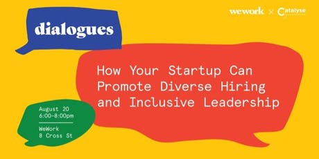 How Your Startup Can Promote Diverse Hiring and Inclusive Leadership tickets