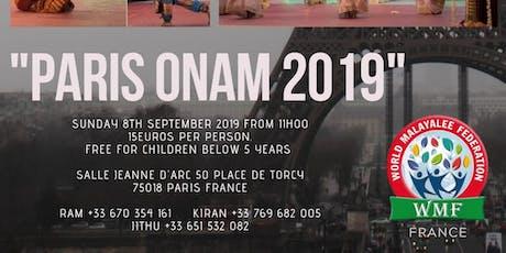 Paris Onam 2019 billets