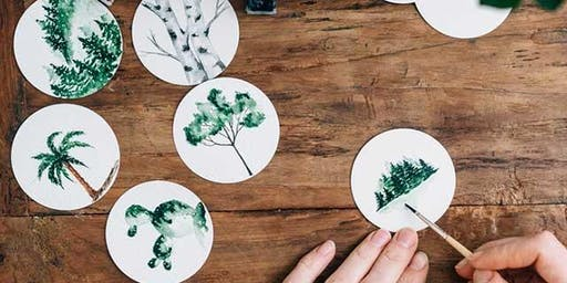 DRINK AND DRAW – PLANT COASTERS