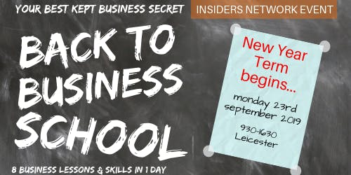 the Back to Business School event