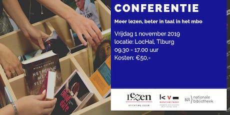 Conferentie Meer lezen, beter in taal in het mbo 2019 tickets
