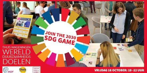 2030 SDGs Game bij Thuis ... werk aan de werelddoelen! (de 2e ronde)
