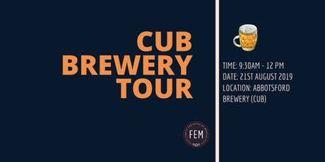 FEM- CUB Brewery Tour tickets