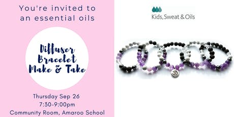 Essential Oils - Diffuser Bracelet Make & Take tickets