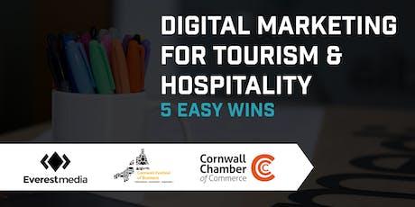 Digital Marketing for Tourism & Hospitality - 5 Easy Wins tickets