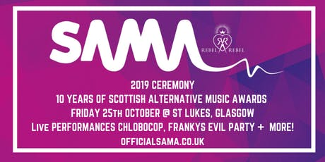 Scottish Alternative Music Awards 2019 Ceremony tickets