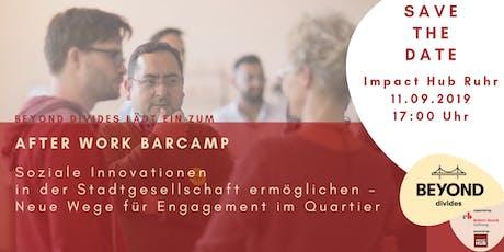 After Work Barcamp - Soziale Innovationen in der Stadtgesellschaft tickets