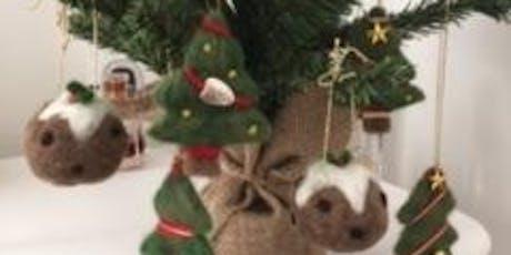 Half day - 3D Needlefelt Christmas Tree decorations tickets