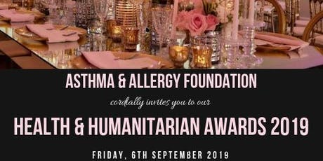 Asthma and Allergy Foundation Health & Humanitarian Awards 2019 tickets