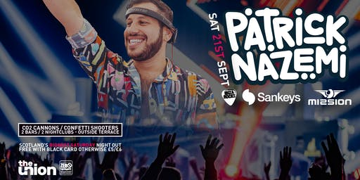 2019/20 Saturdays presents Patrick Nazemi (Saturday 21 September 2019)