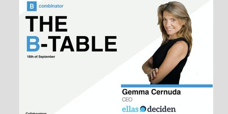 The B-Table Event W/Gemma Cernuda entradas