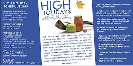 Full High Holiday Experience with Rabbi Stacy- includes all events tickets