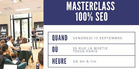 Masterclass 100% SEO tickets