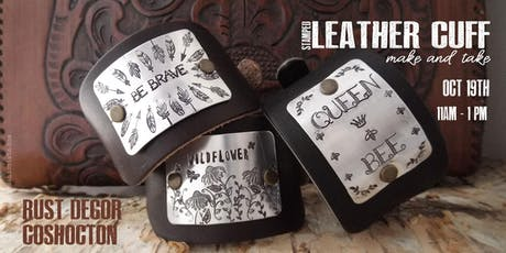 Stamped Leather Cuff Make and Take tickets