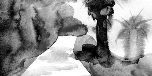 DRINK AND DRAW- INKY LANDSCAPES