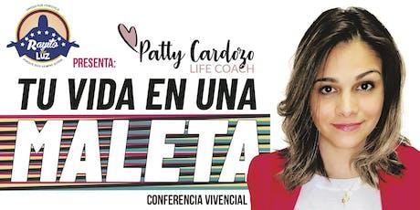 """Patty Cardozo con """"Tu Vida en Una Maleta"""" en Tenerife entradas"""