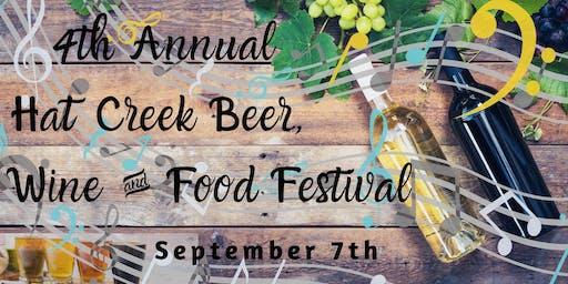 4th Annual Hat Creek Beer, Wine & Food Festival