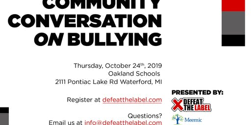 2019 Community Conversation on Bullying