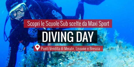 MAXI SPORT | Diving Day Lissone 7 settembre 2019 biglietti