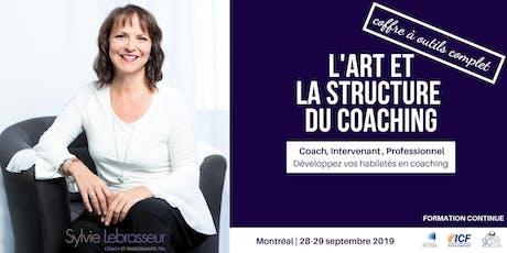L'art et la structure du coaching  billets