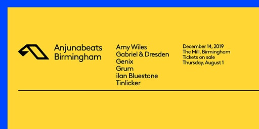 RONG Presents Anjunabeats Christmas Party (The Mill, Birmingham)