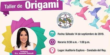 Taller de Origami entradas