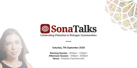 SonaTalks 2019 | An Event Celebrating Potential and Achievements in Refugee Communities tickets