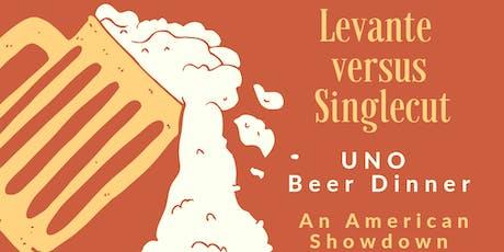 Levante v. SingleCut Beer Dinner tickets